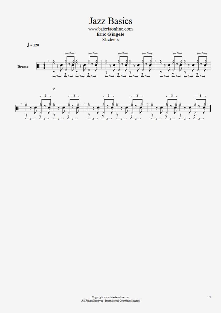 Rítmo de Jazz básico para batería