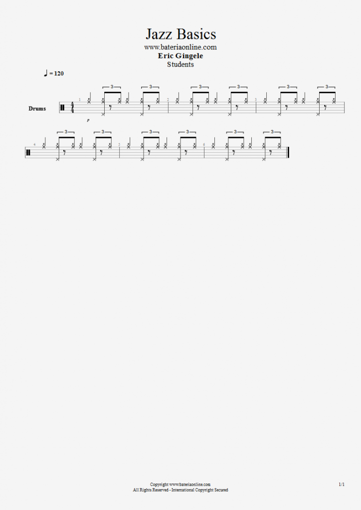 Rítmo básico de Jazz & Swing